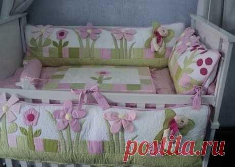 Como coser bortik para la cama de niño.