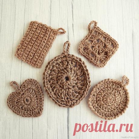 Джутовые мочалки в форме яйца - подарок на Пасху | Вязаные крючком аксессуары