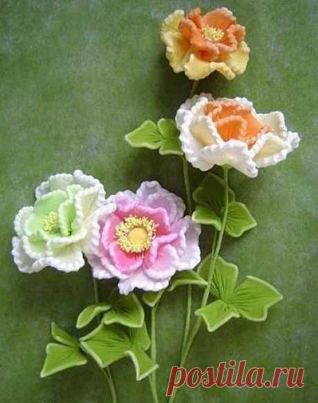 Цветы из капроновых колготок