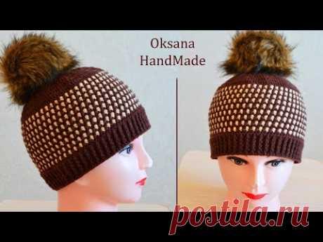 Шапка Унисекс крючком. Мастер класс. Crochet hat pattern