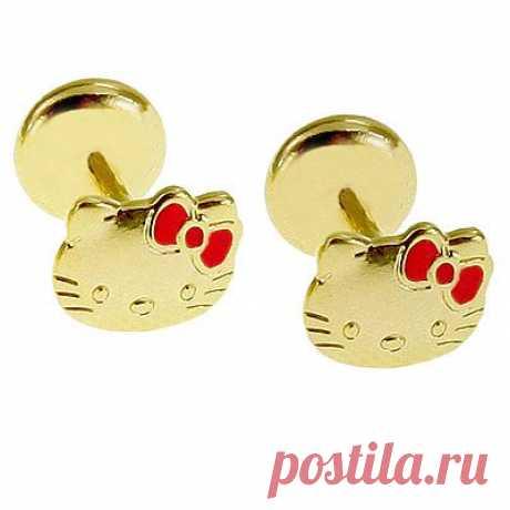 Серёжки для девочек  Hello Kitty - 200-300 руб