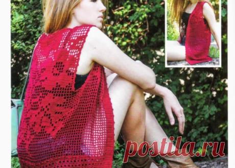Очаровательные пуловер, топ и жилет с описаниями вязания. | pro100stil | Яндекс Дзен
