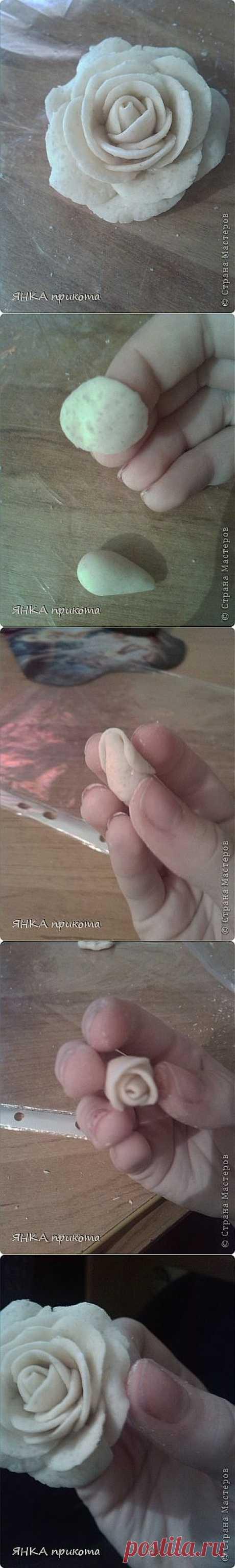 мк по розочке из теста   Страна Мастеров
