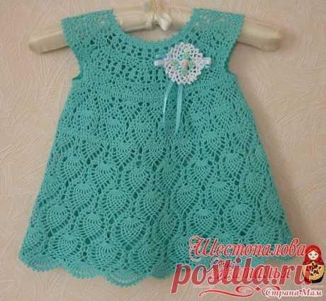 поиск на постиле крючком детские платья