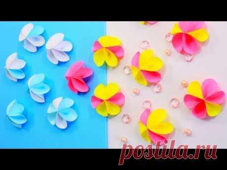 Простой цветочный декор из бумаги своими руками