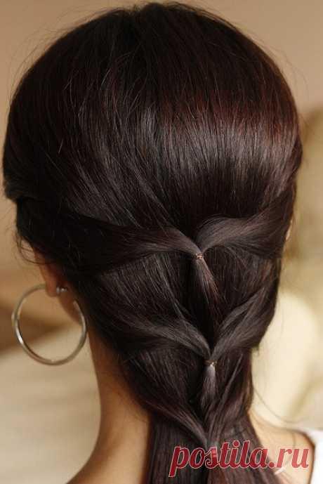 плетение для длиных волос