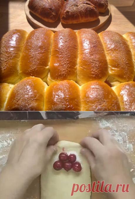 Пирожки-булочки с вишней, которая не убегает)) | Рецепты от Светланы Печенкиной | Яндекс Дзен