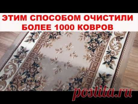 HOW to CLEAN the CARPET TO the PERFECT CONDITION? More than 1000 carpets are rescued thanks to this way