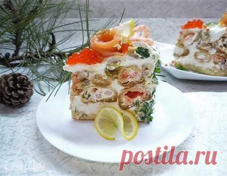 Торт закусочный «Заварной с морепродуктами».