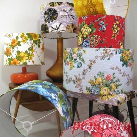 Декорируем абажуры тканью. Идеи для швейного вдохновения