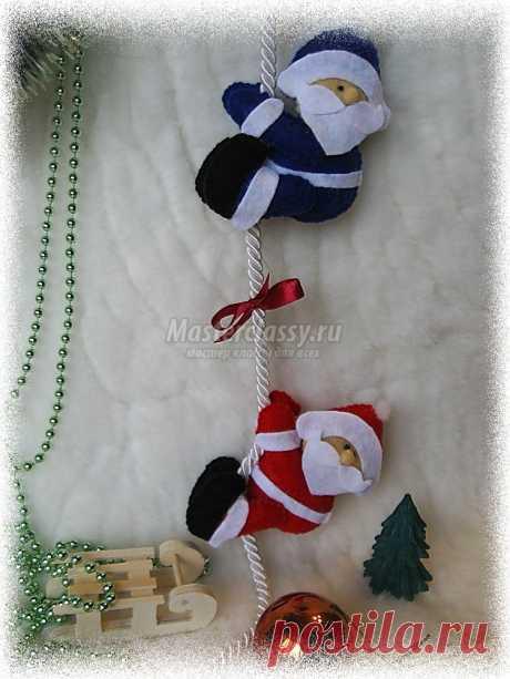 Новогодняя гирлянда Морозки. Мастер класс с пошаговыми фото