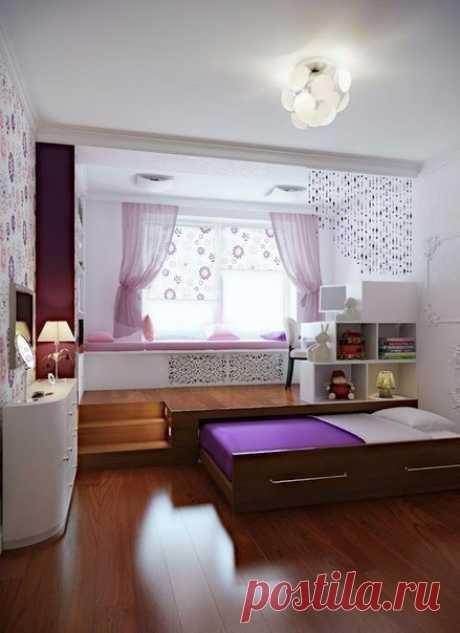 Выдвижная кровать - для экономии места в маленьком помещении