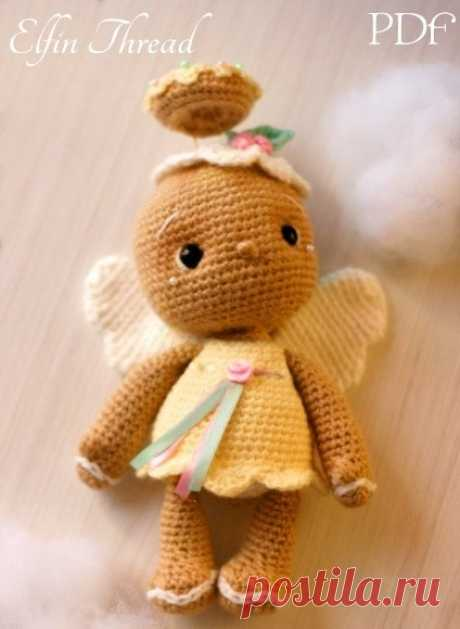 Пряничный ангел амигуруми. Описание | Russian-Handmade