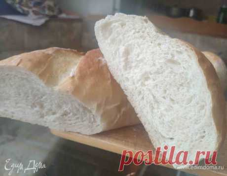 Белый хлеб на кефире. Ингредиенты: мука хлебопекарная, вода, кефир