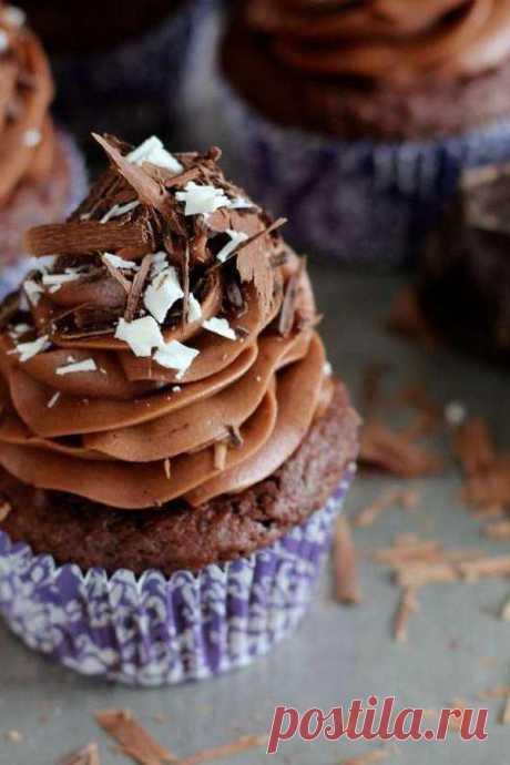 Шоколадные капкейки - простой рецепт - Дом Десертов