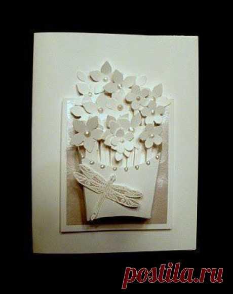 Анимация, объемные белые открытки