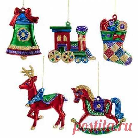"""Set of Christmas Ornaments """"Colorful New Year"""" 5 PCs, Pendants (Kurts Adler) Set of Christmas Ornaments """"Colorful New Year"""" 5 PCs, Pendants (Kurts Adler)  Article: ID35932  A country: Netherlands  Production: China  Set of Christmas Ornaments """"Colorful New Year"""" - with pendants from this set you will not want to part ev..."""