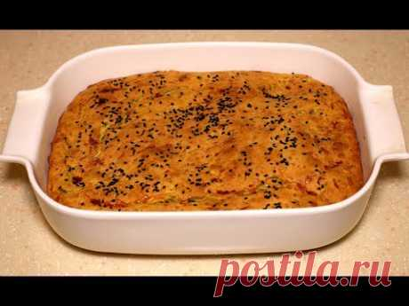 Пирог из кабачков проще простого, все смешал и готово! Кабачковый пирог.