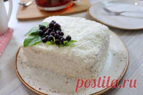 """Домашний торт """"Молочная девочка"""" со сметанным кремом"""