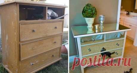 40 примеров, когда старая мебель превращается в шедевр!