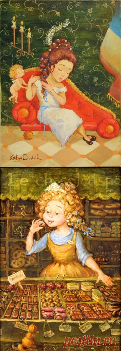 Согретые солнышком… ~ Картины Кати Дудник