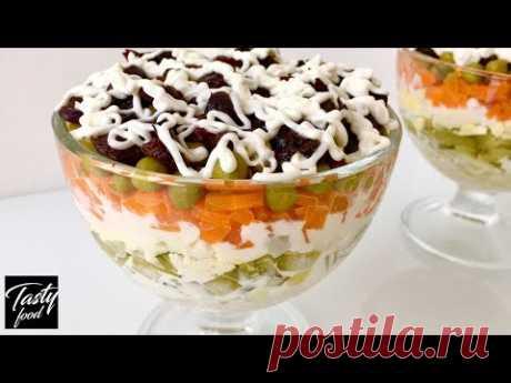 """Салат """"Прага"""" Давно Забытый, но Очень Вкусный Рецепт! Побалуйте родных вкусняшкой!"""