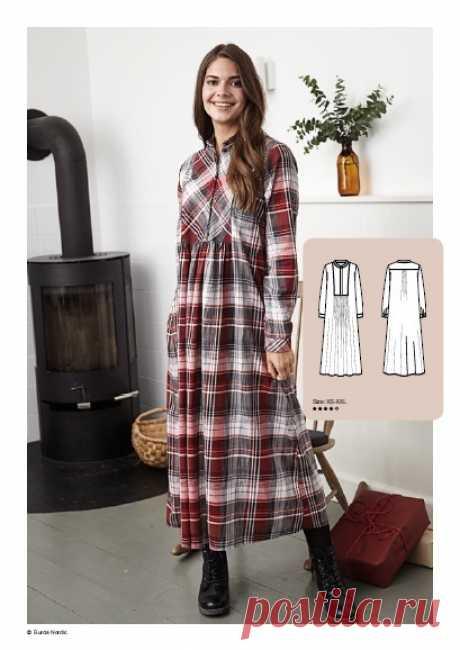 Женское платье-рубашка Размеры XS-XXL Источник https://alltomhandarbete.se/