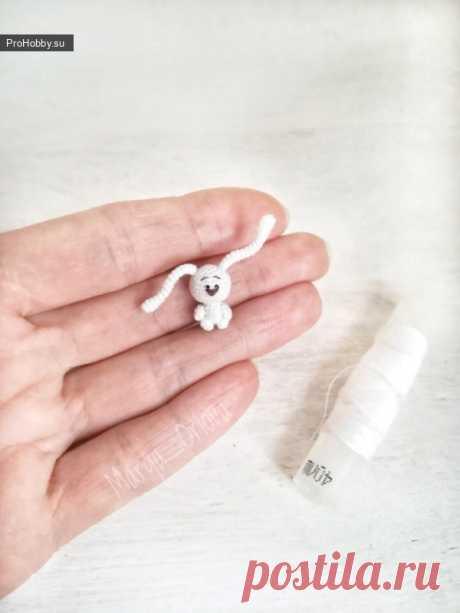Микро-зайка / Вязание игрушек / ProHobby.su | Вязание игрушек спицами и крючком для начинающих, мастер классы, схемы вязания