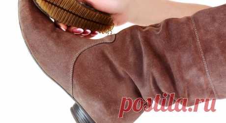 Как убрать соль с замшевой обуви в домашних условиях