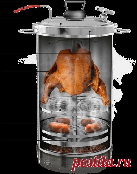 Купить коптильню Браво для горячего копчения от производителя