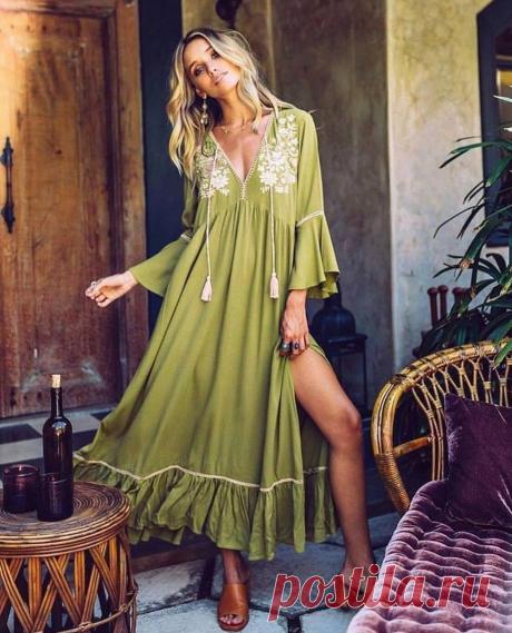 Стильные летние платья в стиле бохо - Нужные штучки - медиаплатформа МирТесен