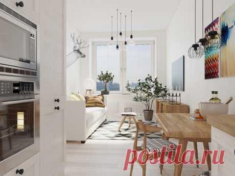 Проект скандинавской квартиры на 30 кв.м в Санкт-Петербурге