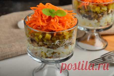 """Салат """"Изабелла"""" с корейской морковкой - простой и праздничный"""