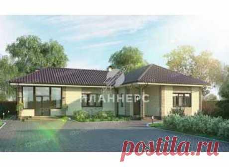 p1524kn – проект одноэтажного углового дома с верандой и сауной из кирпича до 120 кв м