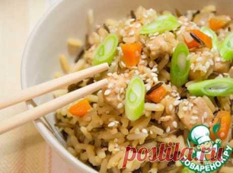 Чесночный рис с курицей - кулинарный рецепт