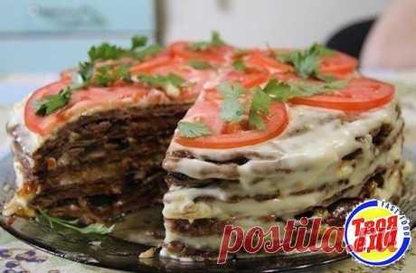 Вкуснейший печеночный торт