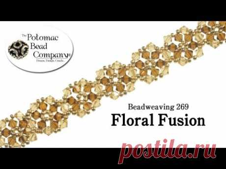 Floral Fusion Bracelet- DIY Jewelry Making Tutorial by PotomacBeads