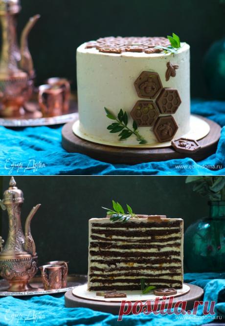 Шоколадный медовик с двумя видами крема.