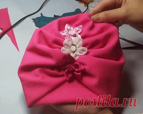 Модный тюрбан из небольшого куска ткани: легкая сборка — стильный результат