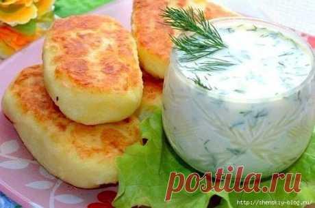 Картофельные оладьи с сыром!