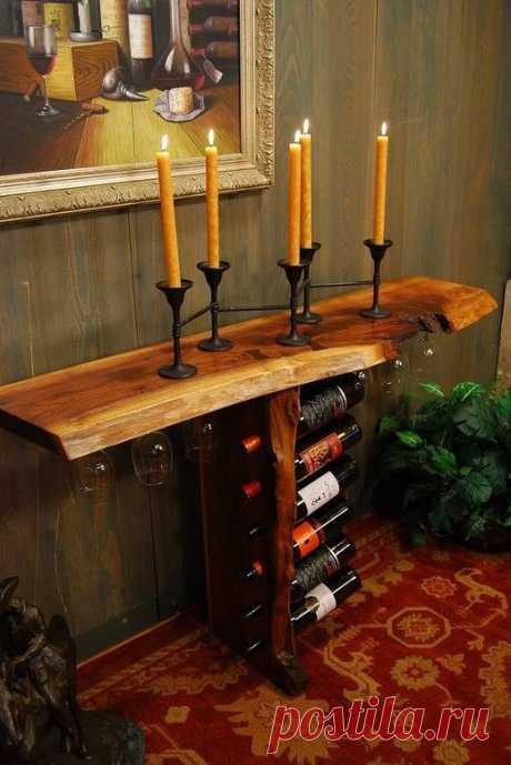 Креативные идеи для хранения вина и прочие деревянные изделия для загородного дома и не только