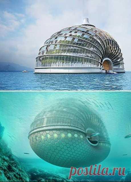 Китай. Вот такой подводный отель.