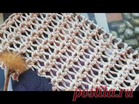 Это, просто, гениальная сеточка спицами 🍂 вяжем 🍂 knitting pattern.