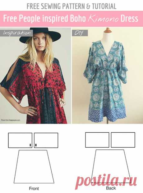 Very simple pattern of a stylish dress (Diy) \/ Simple patterns \/ Second Street