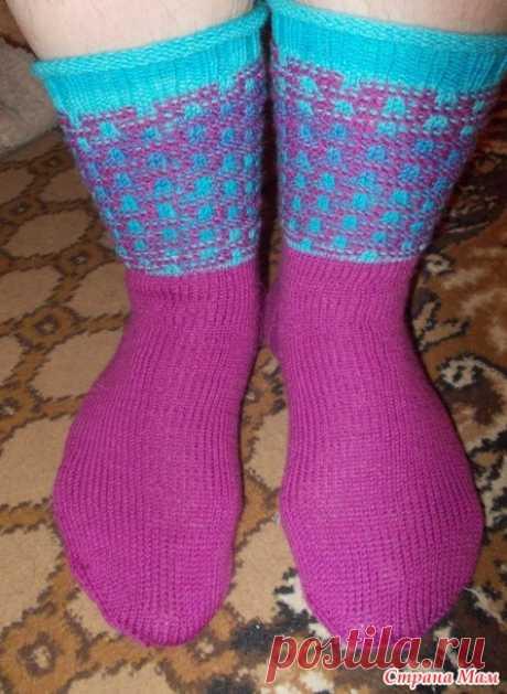 Носочки (аж 3 пары) ленивым жаккардом - Страна Мам