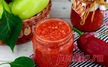 Рецепт аджики с яблоком и болгарским перцем — MEGOCOOKER