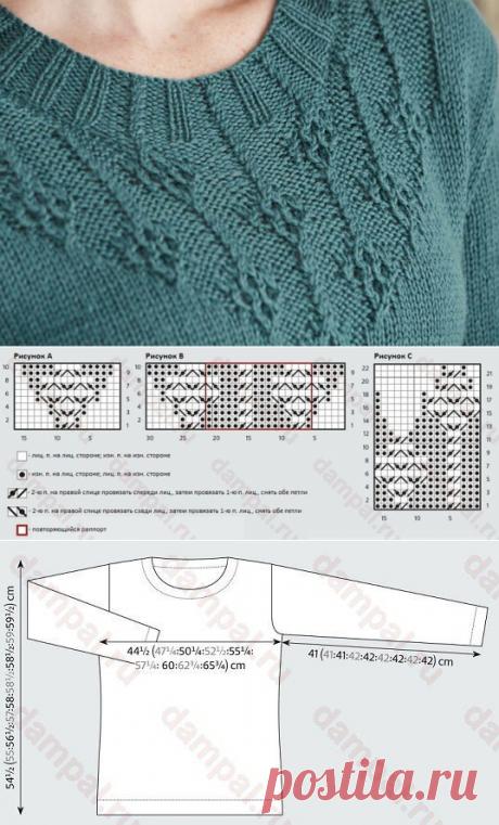 Женский вязаный пуловер «Jadeite»