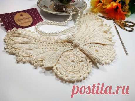 Como Tecer uma Beautiful Irish Crochet Butterfly Parte 1