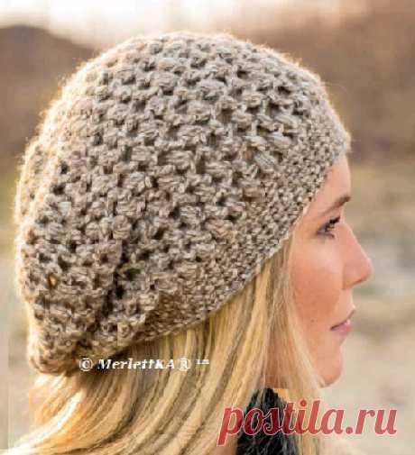 Вязание для женщин - Объёмная шапочка