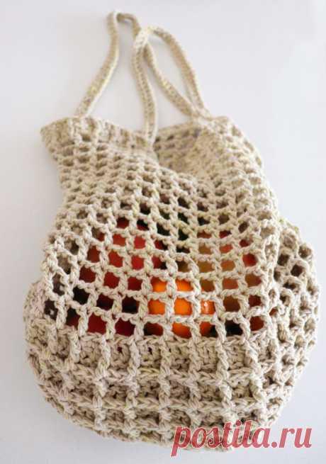 Crochet Waffle Market Bag   Fluffy Stitches